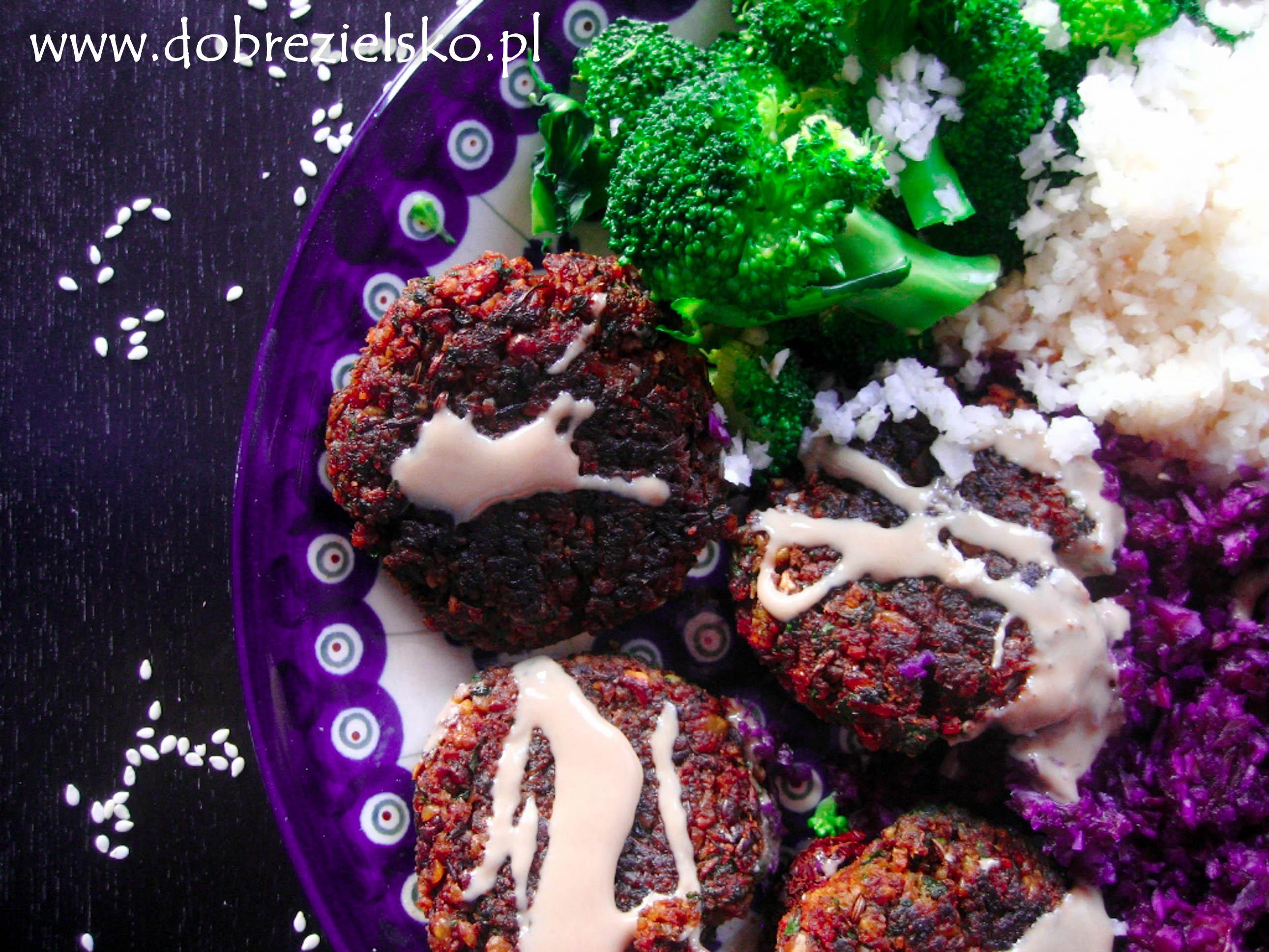 falafele przepis wegański bezglutenowy kotleciki z ciecierzycy