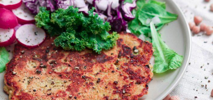 Wegański omlet z mąki z ciecierzycy