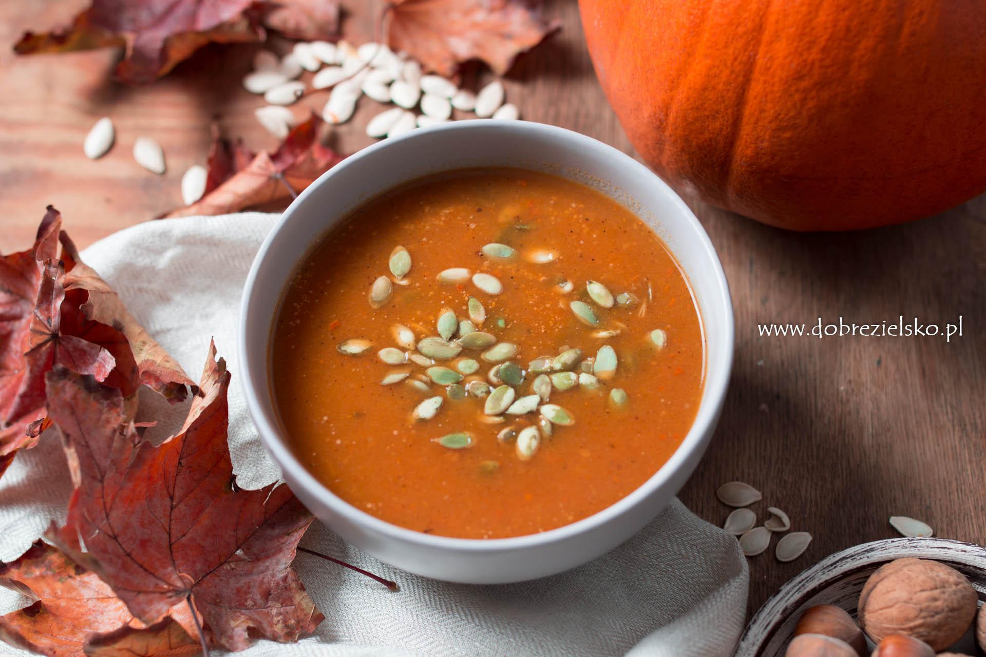wegańska zupa dyniowa z imbirem