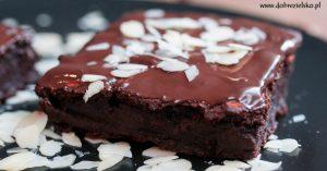 bezglutenowe wegańskie brownie z burakami