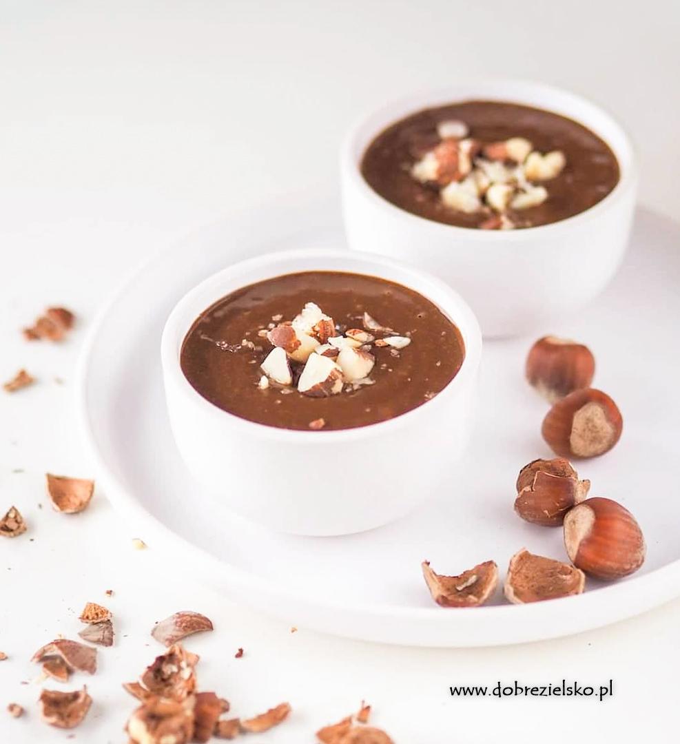 wegańska czekolada z dynią gorąca korzenna z cynamonem bezglutenowa