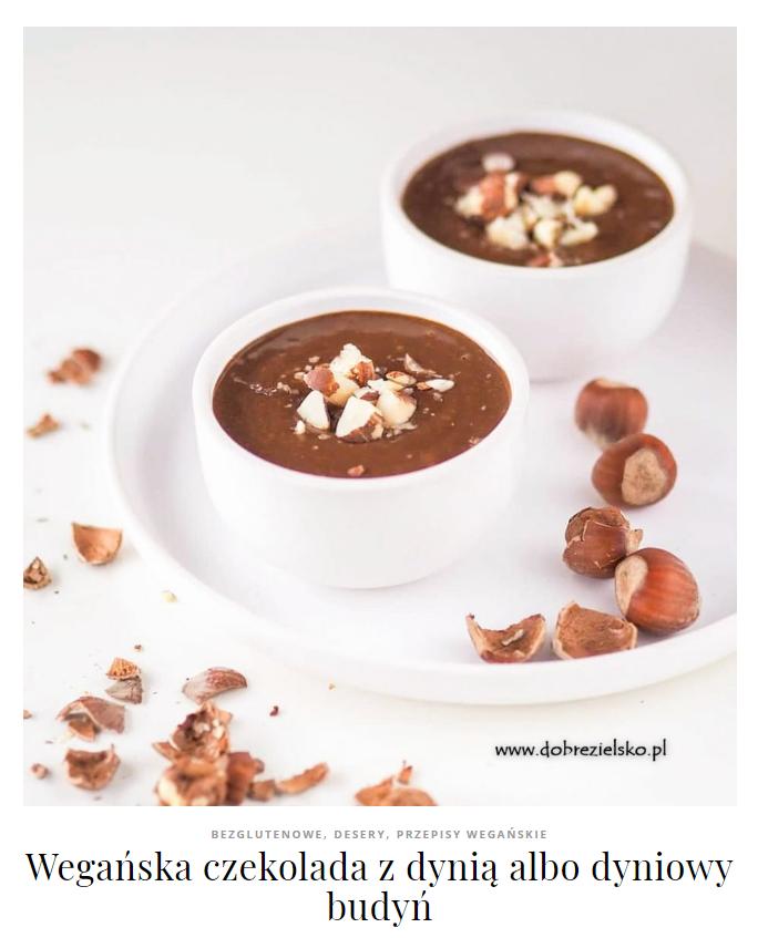 wegańska czekolada dyniowa budyń bez glutenu
