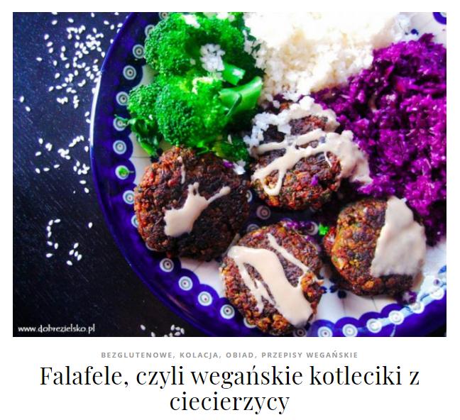 falafele wegańskie kotlety z ciecierzycy bezglutenowe