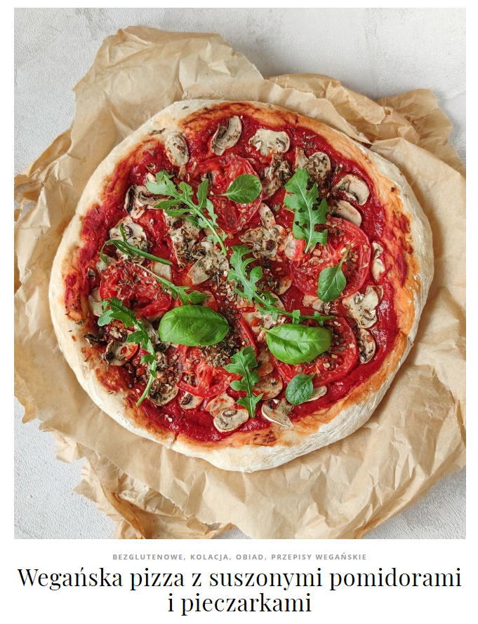 wegańska pizza bez sera